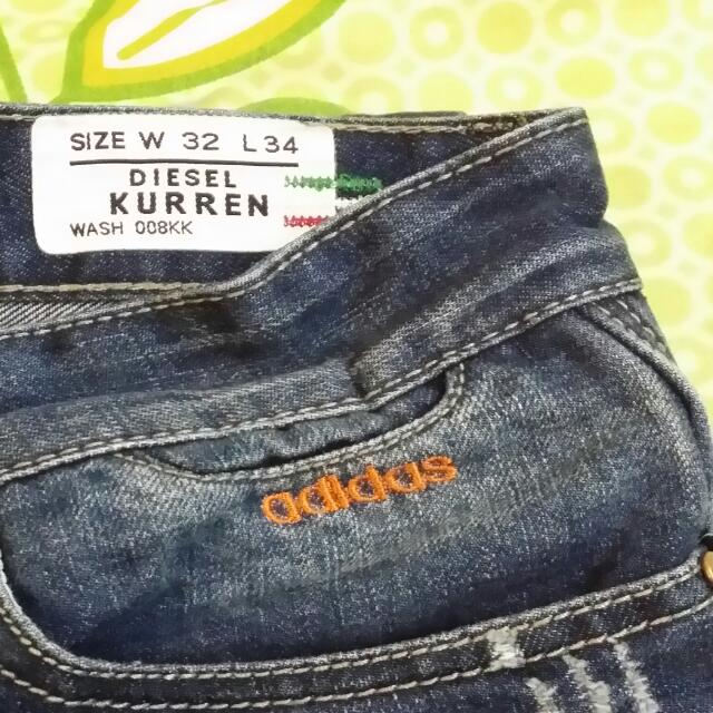 adidas jeans size