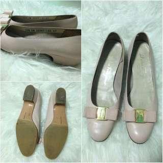 Vintage Salvatore Ferragamo Shoes In Dusty Pink