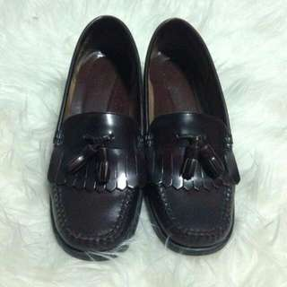 Vintage Weejuns by Bass Loafers In Red Wine