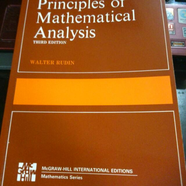 Ma3110ma3209 principles of mathematical analysis 3rd ed walter ma3110ma3209 principles of mathematical analysis 3rd ed walter rudin books stationery textbooks on carousell fandeluxe Choice Image
