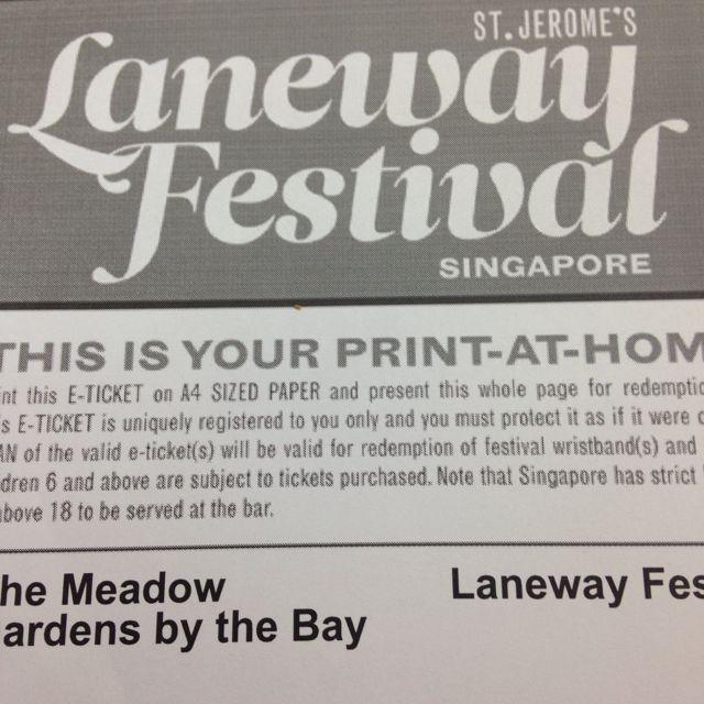 Laneway Festival Ticket