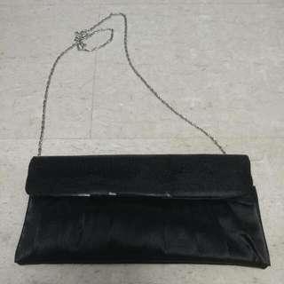 Black Sequin Clutch Bag