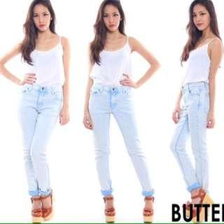 BN Butteredgun Cheap Monday Jeans in Light Washed Denim
