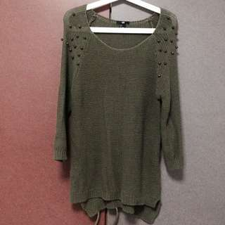 H&M Army Green Knitted Top