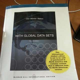 Statistical Techniques In Business And Economics With Global Data Sets