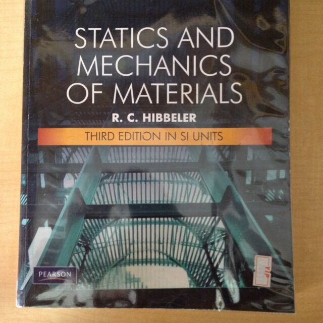 statics and mechanics of materials  3rd edition in si