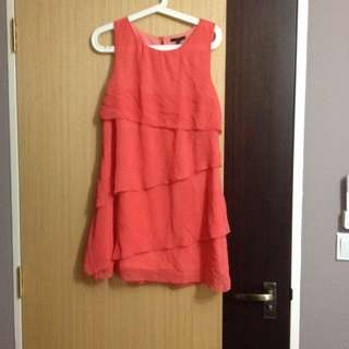 Pre-loved Salmon Coloured Ruffle Dress!