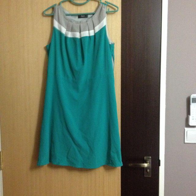 Iora Green Work Dress