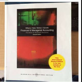 Financial And Managerial Accounting 16th Edition Bu8101