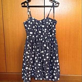 BN Daisy Print Dress (Navy)