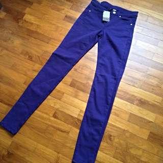 BNWT H&M Divided Super Slim Leg Jeans (Purple)