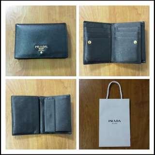 PRADA Saffiano Leather Wallet (Black)