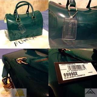 e49ea13aaa Brand New and 100% Authentic FURLA CANDY Bauletto Pavone