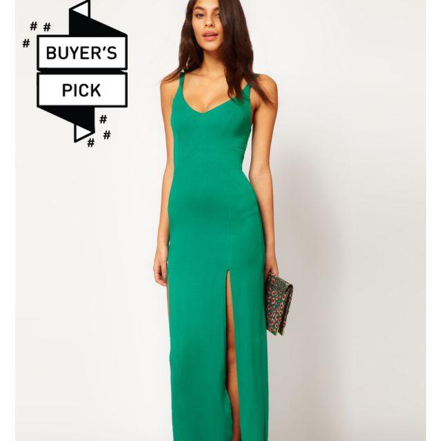 d27c68e95c1 ASOS maxi Dress With Double Slit (Emerald)
