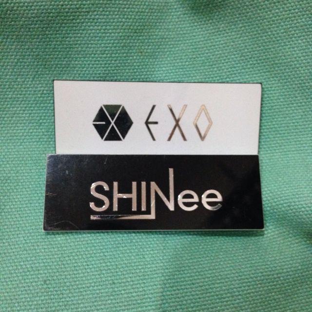 Shinee And Exo Badge