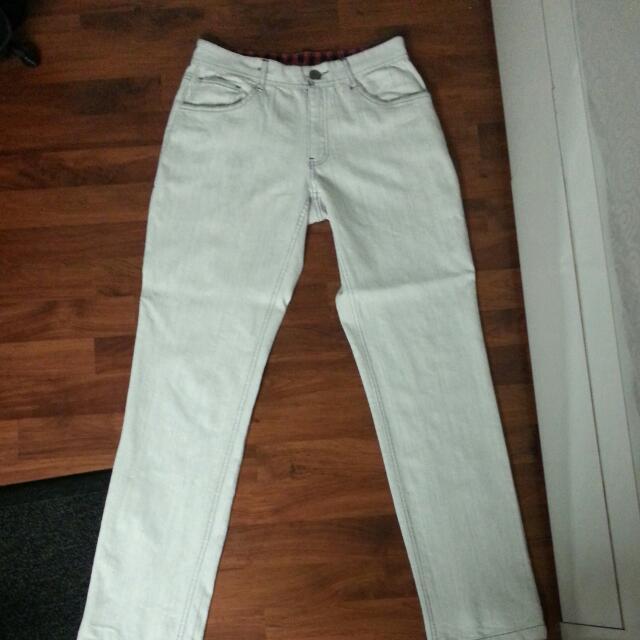White Recoil Jeans