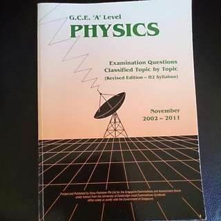 A Level H2 Physics TYS (Ten years Series)