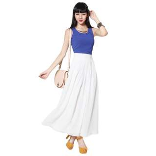 Love Bonito Cora Maxi Skirt Size L White