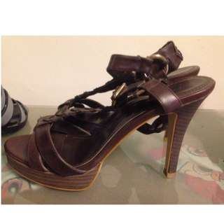 Charles and Keith Brown Strappy Heels
