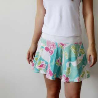 Bright Floral Skirt