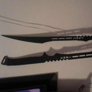 Solid Steel Dual Swords and Sheath