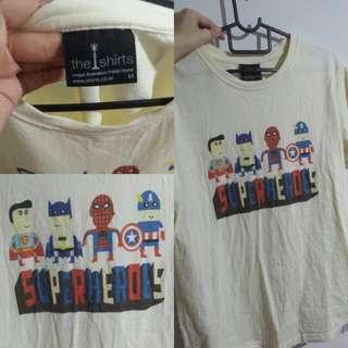 Unisex Superhero T shirt.