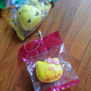 yellow hello kitty macaron squishy