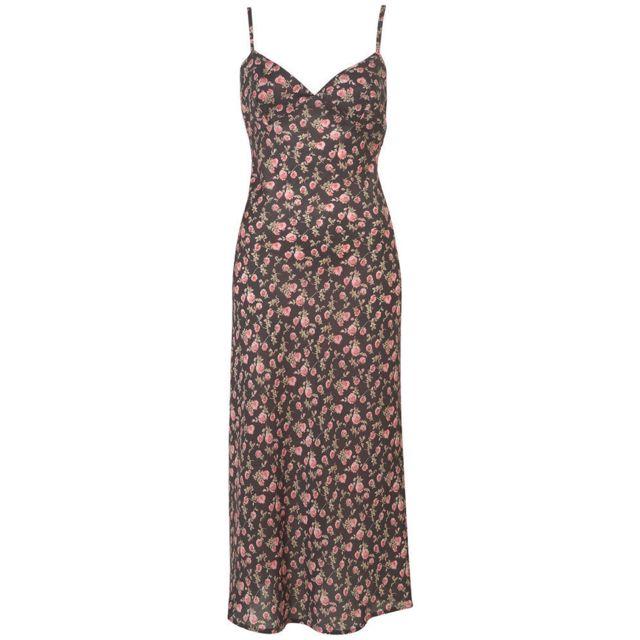 Topshop Flower Slip Dress