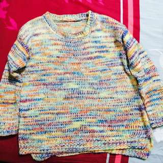 Rainbow Knitted Pullover