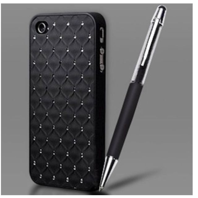 a65878d20fd3 Iphone 5 Case   Stylus Pen Made With Swarovski Elements - Black ...