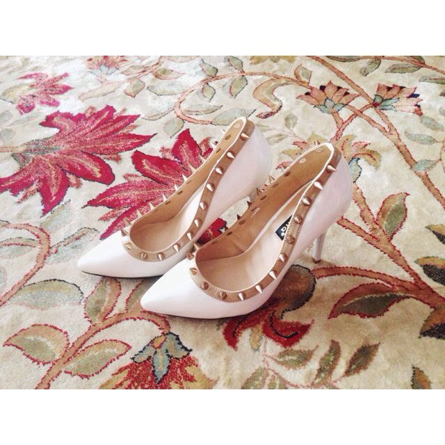 492d4c1d4f8 White Studded Christian Louboutin Inspired Shoes