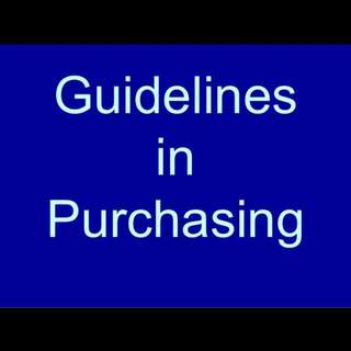 Guidelines To Purchasing From Me =)
