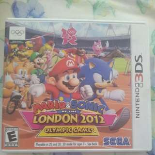 3DS Mario And Sonic At The London 2012 Olympic Games