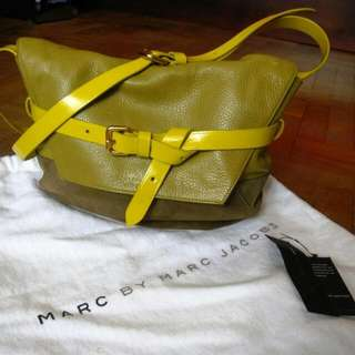 Marc By Marc Jacobs Leather And Suede Sling Bag