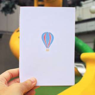 Hot Air Balloon Hand Bounded Notebook