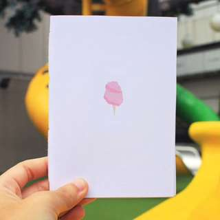 Cotton Candy Hand Bounded Notebook
