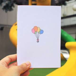Bundle Of Balloons Hand Bounded Notebooo