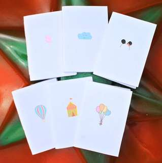 Set Of 6 Carnival Hand Bounded Notebook