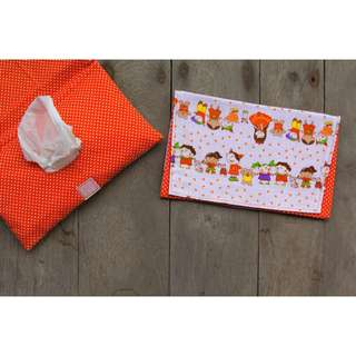 HANDMADE TISSUE POUCH - Friend Orange