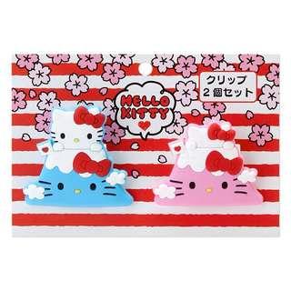 Hello Kitty Rubber Clip Set (I LOVE Fuji )