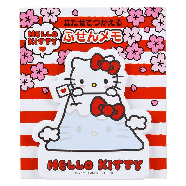 Sticky standing Hello Kitty (I LOVE JAPAN Fuji)