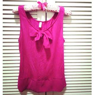 Pink Sleeveless Tshirt