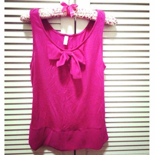 Pink Sleeveless Tshirt