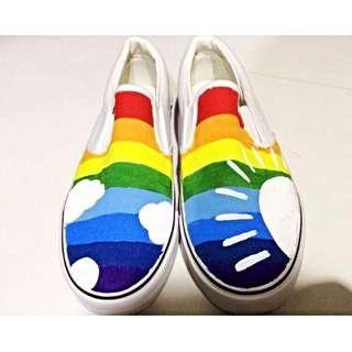 Rainbow Canvas Shoes