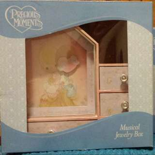 Precious Moment Porcelain Photo Frame And Musical Jewellery Box