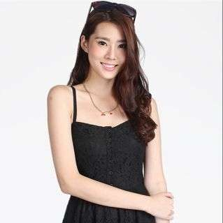 CWC Kadie Lace Pocket Dress, Black, S