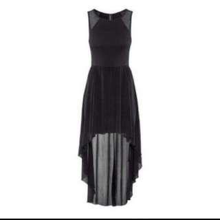 H&M Black Mesh Droptail Dress