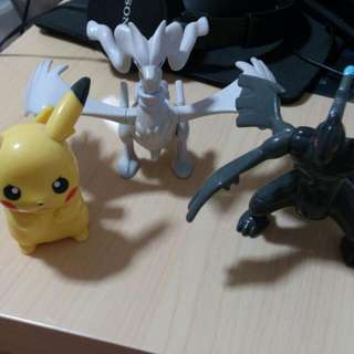 Pikachu, Black, White Figure MacDonald