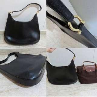 f158e57d56 Salvatore Ferragamo Vintage Leather Bag