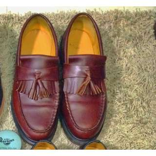 Dr Martens Loafers Wine Red